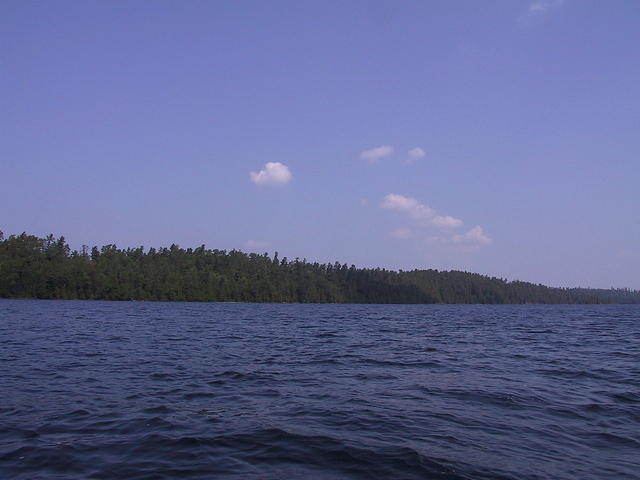 A look of the shoreline from the water